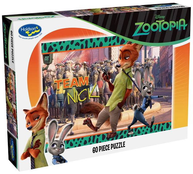 Picture of Holdson Puzzle - Zootopia 60pc (Team Nick)