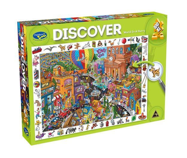 Picture of Holdson Puzzle - Discover Large 2 100pc (World In A Hurry)