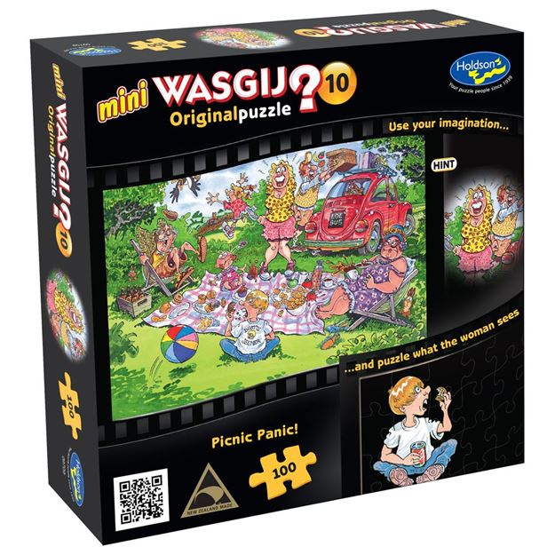 Picture of Holdson Puzzle - Wasgij Mini 10 100pc (Picnic Panic)