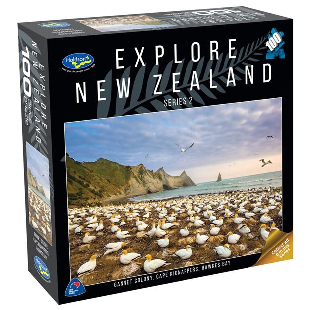 Picture of Holdson Puzzle - Explore New Zealand 2 100pc (Gannet Colony, Cape Kidnappers)