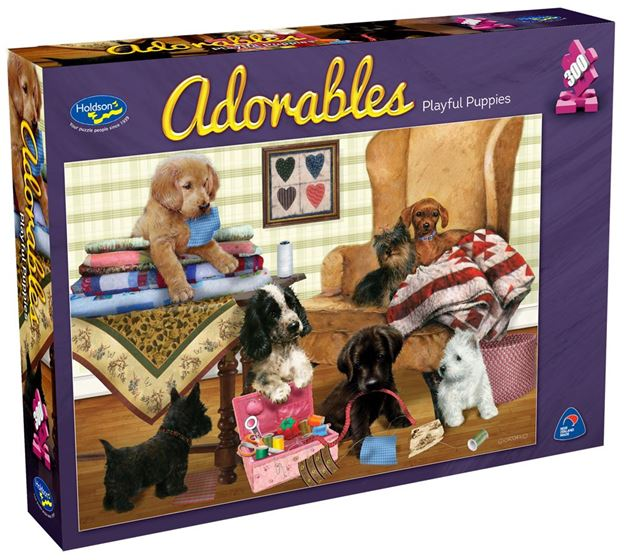 Picture of Holdson Puzzle - Adorables 300pc (Playful Puppies)
