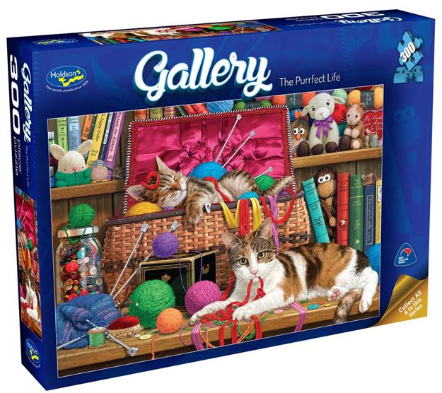 Picture of Holdson Puzzle - Gallery 3 300pc XL (The Purrfect Life)