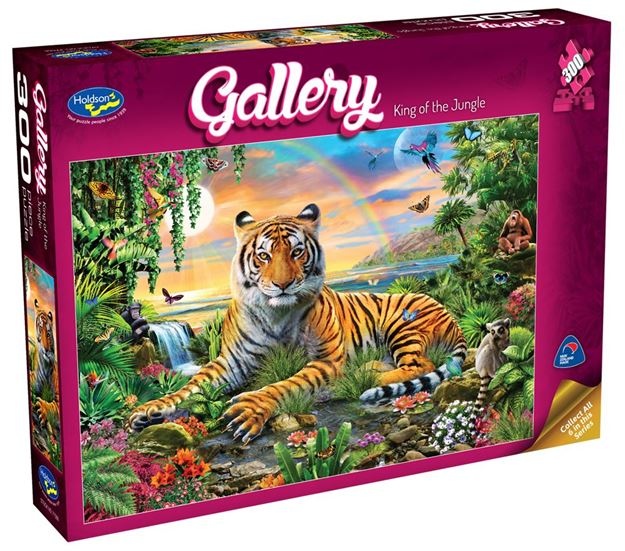 Picture of Holdson Puzzle - Gallery 4 300pc XL (King Of The Jungle)