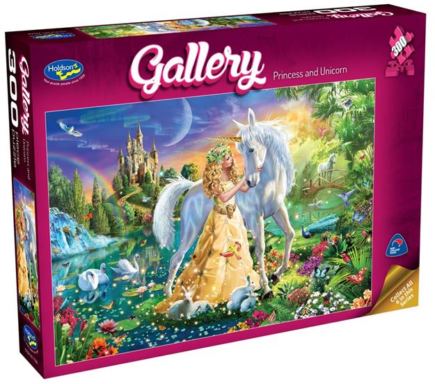 Picture of Holdson Puzzle - Gallery 4 300pc XL (Princess And Unicorn)