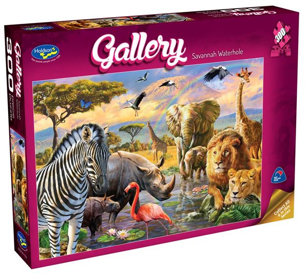 Picture of Holdson Puzzle - Gallery 4 300pc XL (Savannah Waterhole)