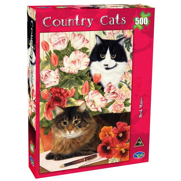 Picture of Holdson Puzzle - Country Cats 500pc (Desk Mates)