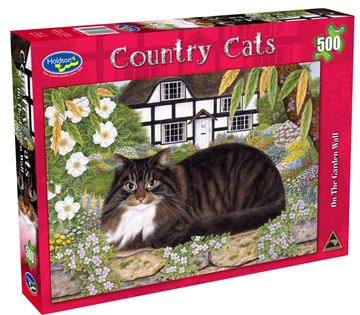 Picture of Holdson Puzzle - Country Cats 500pc (On The Garden Wall)