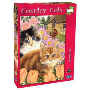 Picture of Holdson Puzzle - Country Cats 500pc (Springtime Pals)