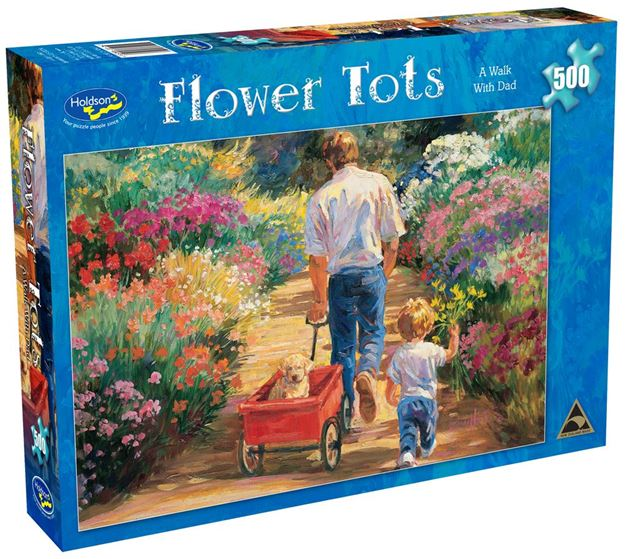 Picture of Holdson Puzzle - Flower Tots 500pc (A Walk With Dad)