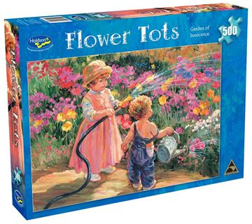 Picture of Holdson Puzzle - Flower Tots 500pc (Garden Of Innocence)