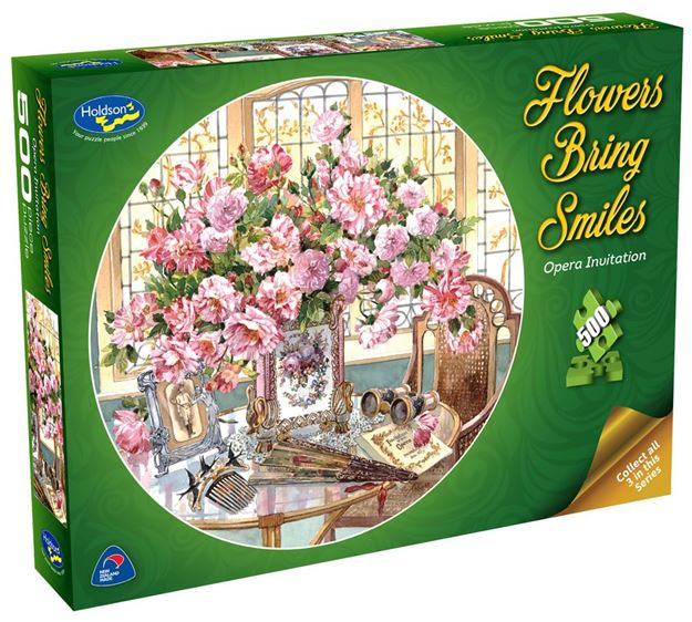 Picture of Holdson Puzzle - Flowers Bring Smiles 500pc (Opera Invitation)