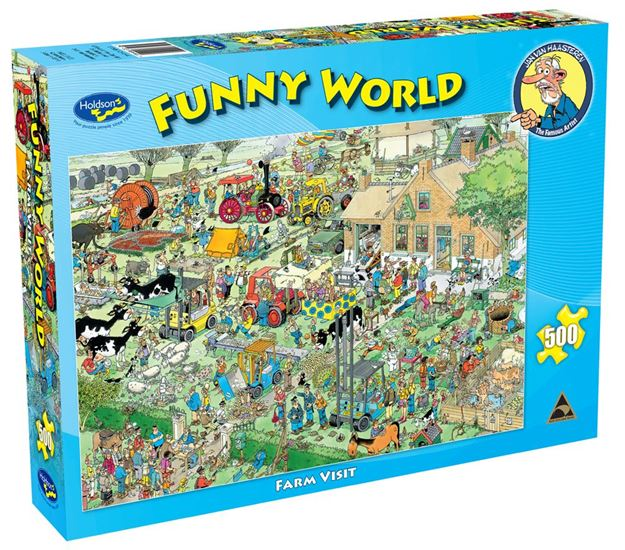 Picture of Holdson Puzzle - Funny World 500pc (Farm Visit)