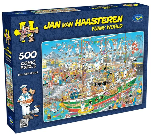 Picture of Holdson Puzzle - Van Haasteren 500pc (Tall Ships Chaos)
