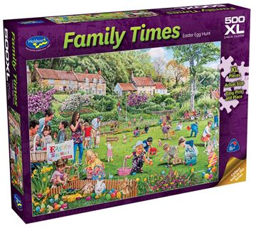 Picture of Holdson Puzzle - Family Times 500pc XL (Easter Egg Hunt)