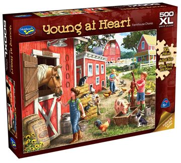 Picture of Holdson Puzzle - Young At Heart 500pc XL (Farmhouse Chores)