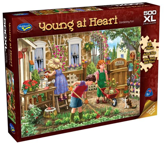 Picture of Holdson Puzzle - Young At Heart 500pc XL (Gardening Fun)