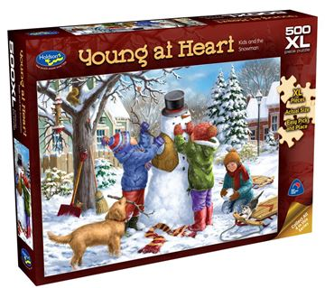Picture of Holdson Puzzle - Young At Heart 500pc XL (Kids And The Snowman)