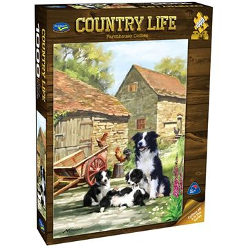 Picture of Holdson Puzzle - Country Life 1000pc (Farmhouse Collies)