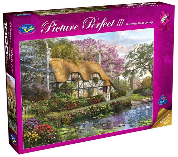 Picture of Holdson Puzzle - Picture Perfect 3 1000pc (The White Stone Cottage)