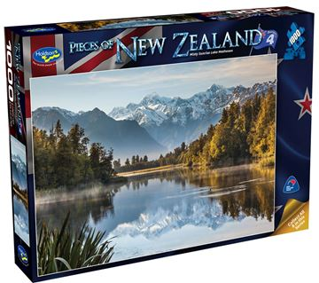 Picture of Holdson Puzzle - Pieces of New Zealand 4 1000pc (Misty Sunrise Lake Matheson)