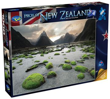 Picture of Holdson Puzzle - Pieces of New Zealand 4 1000pc (Mitre Peak Mossy Rocks)