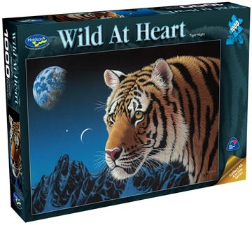 Picture of Holdson Puzzle - Wild At Heart 1000pc (Tiger Night)
