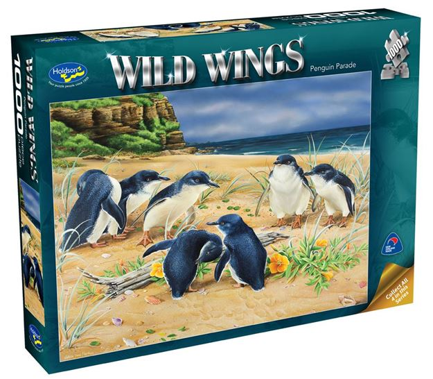Picture of Holdson Puzzle - Wild Wings 1000pc (Penguin Parade)
