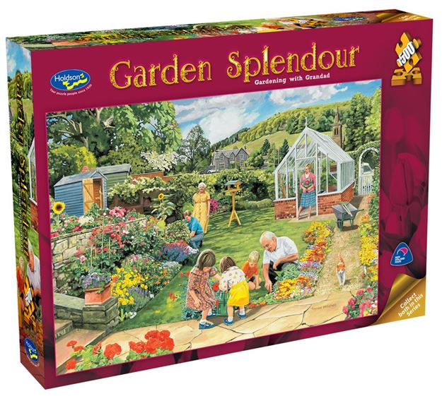 Picture of Holdson Puzzle - Garden Splendour 1500pc (Gardening With Granddad)