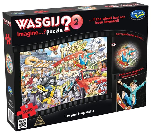 Picture of Holdson Puzzle - Wasgij Imagine 2 1000pc (If The Wheel Had Never Been Invented)