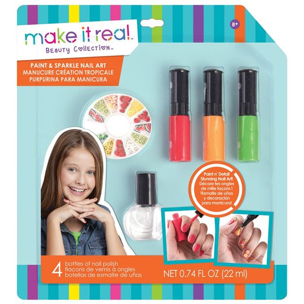 Picture of Make It Real - Paint & Sparkle Nail Art (Orange)