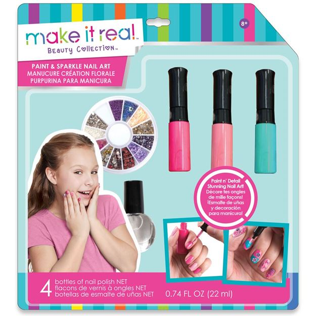 Picture of Make It Real - Paint & Sparkle Nail Art (Pink)