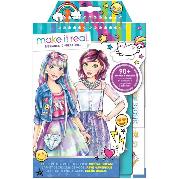 Picture of Make It Real - Fashion Design Sketchbook (Blue)
