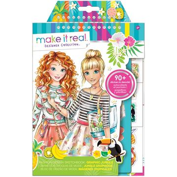 Picture of Make It Real - Fashion Design Sketchbook (Green)