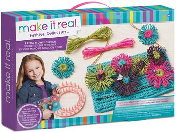 Picture of Make It Real - Raffia Flower Clutch