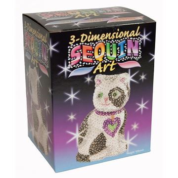 Picture of Sequin Art - 3D Cat