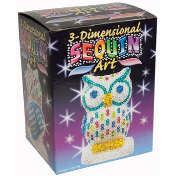 Picture of Sequin Art - 3D Owl