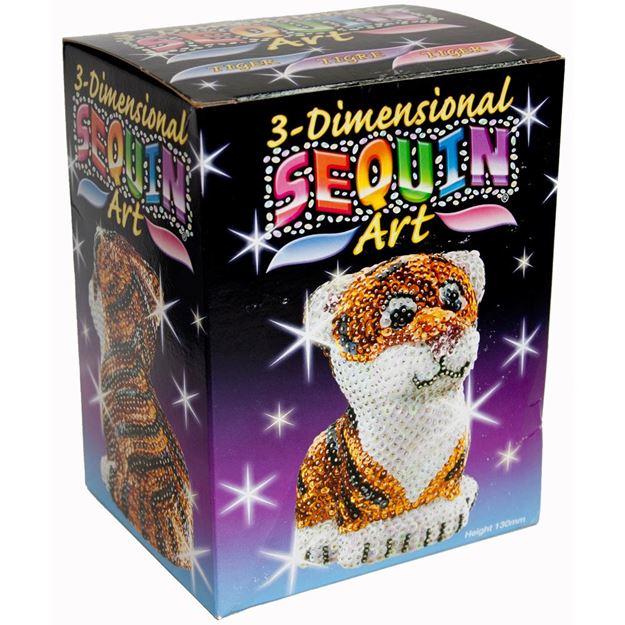 Picture of Sequin Art - 3D Tiger