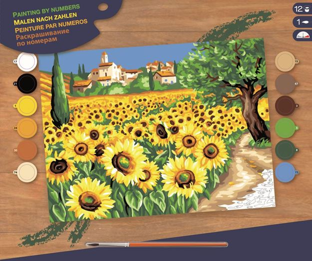 Picture of Paint By Numbers - Sunflowers
