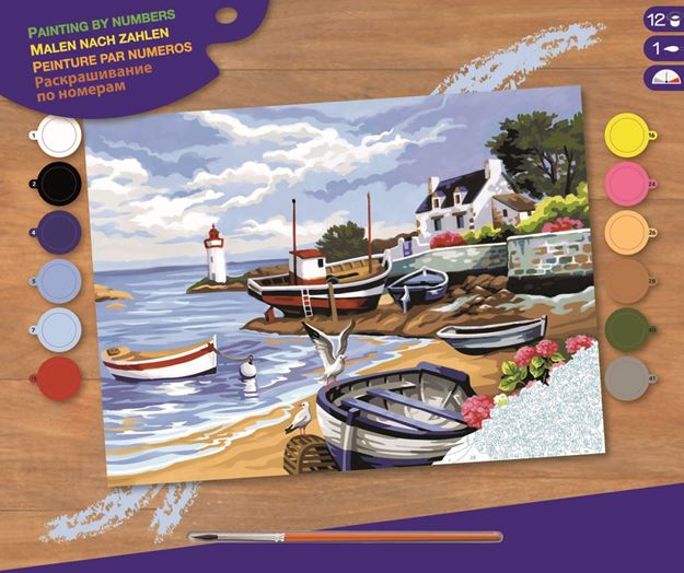 Picture of Paint By Numbers - Fishing Village