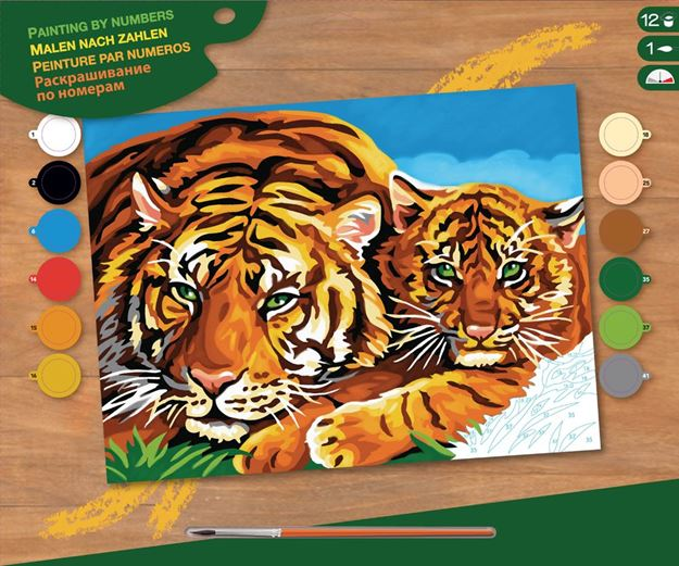 Picture of Paint By Numbers - Tigers