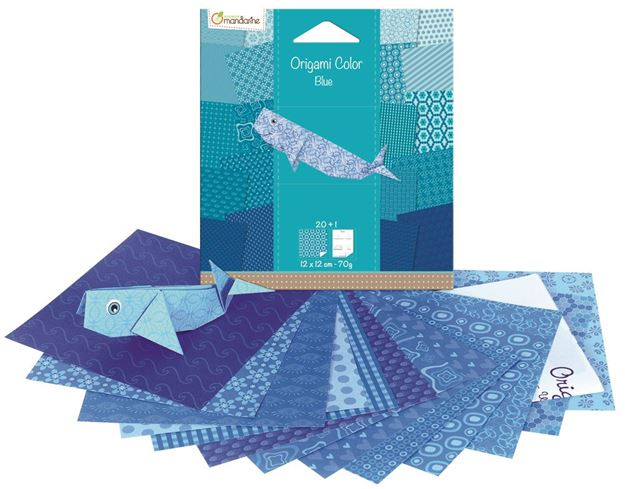 Picture of Avenue Mandarine - Whale Origami Kits Blue)