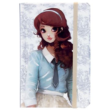 Picture of Avenue Mandarine - Notebook with Elastic (Redhead)