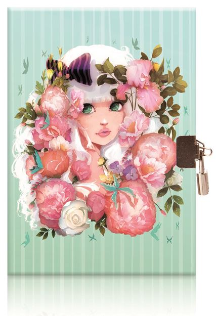Picture of Avenue Mandarine - Diary with Lock (Boho Blooms)