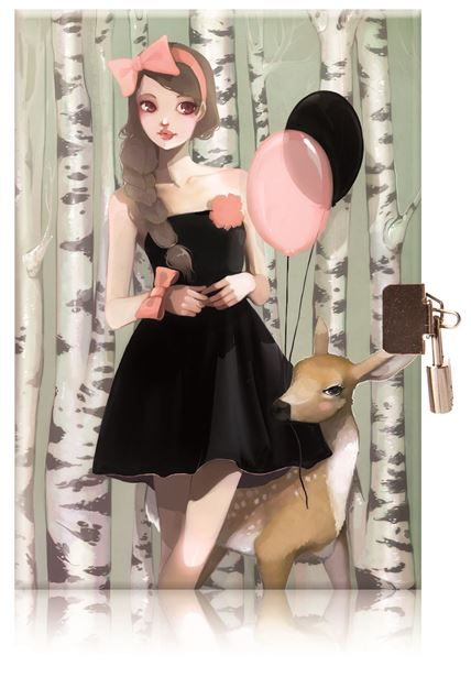 Picture of Avenue Mandarine - Diary with Lock (In The Wood)