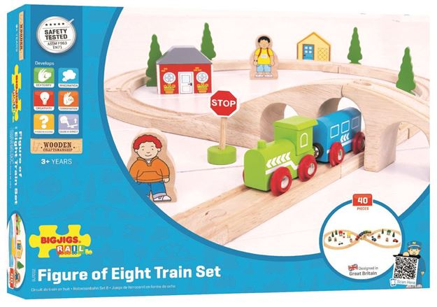 Picture of Bigjigs Rail - Figure of Eight Train Set