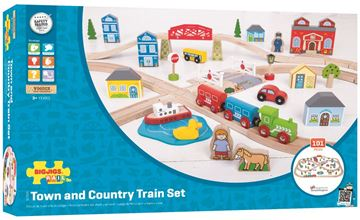Picture of Bigjigs Rail - Town & Country Train Set