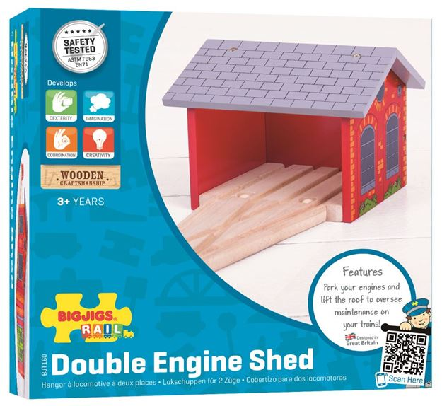 Picture of Bigjigs Rail - Double Engine Shed