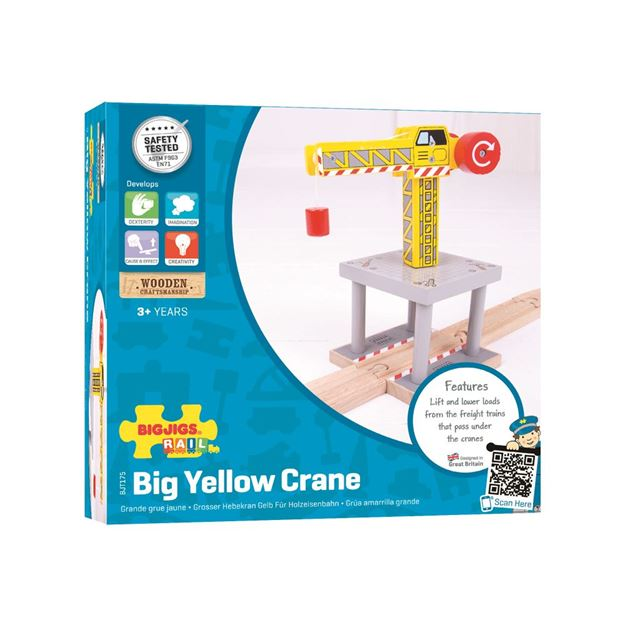Picture of Bigjigs Rail - Big Yellow Crane