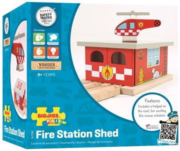 Picture of Bigjigs Rail - Fire Station Shed