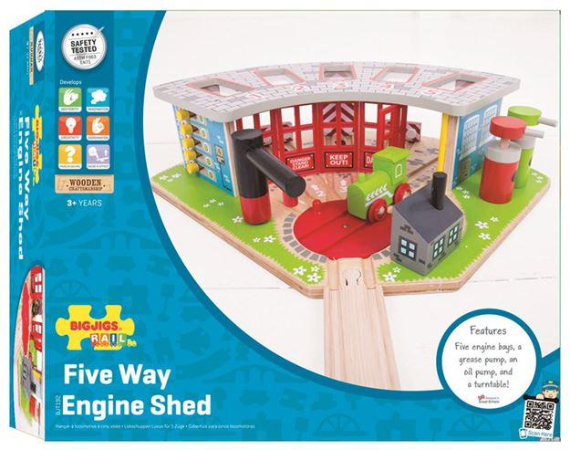 Picture of Bigjigs Rail - Five Way Engine Shed
